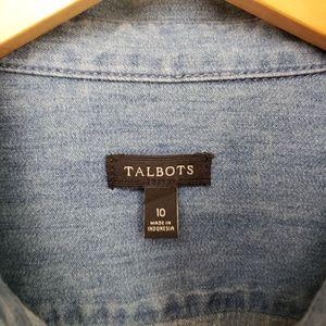 Talbots Tops - Womens cotton denim button down long sleeve shirt